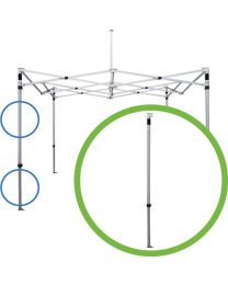losse poot easy up partytent aluminium
