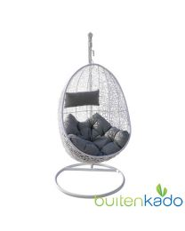hangstoel egg chair wit grijs