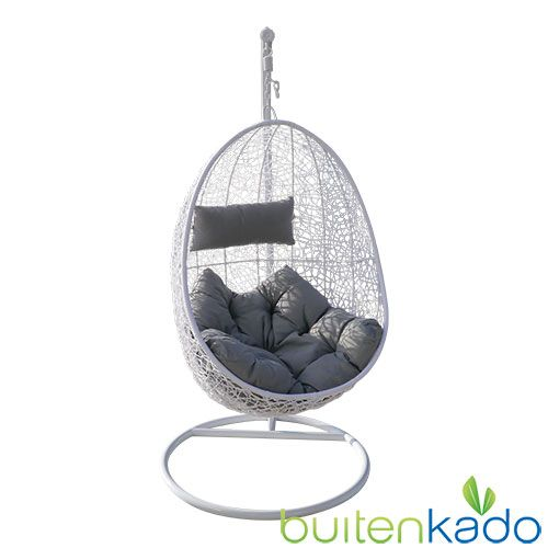 Hangstoel Egg Wit.Hangstoel Egg Chair Wit