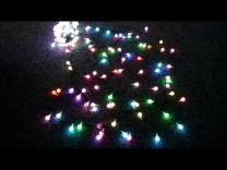 Led-lichtsnoer wisselende kleuren 20 meter 200 grote lampjes