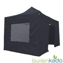 pro easy up tent 3x4,5 meter zwart