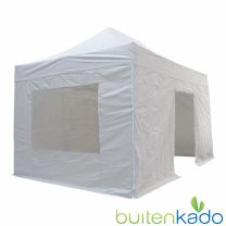 ultimate easy up partytent 3x4,5 meter lichtgrijs